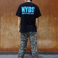 NYDSオリジナルTシャツ ブラック/水色