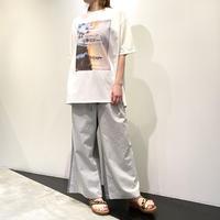 tranoi バックZIPプリントTシャツ ( ホワイト )
