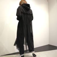 tranoi フードチュールワンピース (black)
