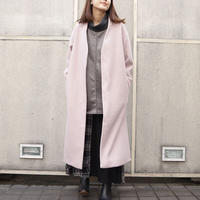 NOWYOUKNOW ノーカラーコート(pink)