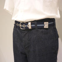 SARANAM LINE BELT(navy,orange)