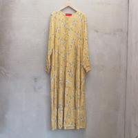 tranoi 花柄ワンピース(yellow)