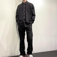 SLICK ステッチシャツ ( ブラック/アイボリー )
