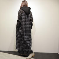 tranoi チュールレイヤードコート(khaki,black)