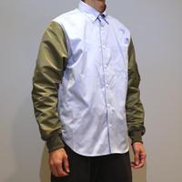 HBNS MA1袖 BDシャツ(sax)