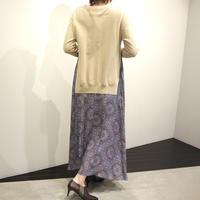 tranoi 切り替えワンピース(beige,black)
