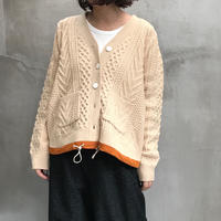 tranoi ケーブルカーディガン(beige)