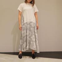 tranoi バンダナ柄ワンピース(white)