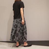 tranoi バンダナ柄ワンピース(black)