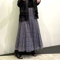 tranoi チュールスカート チェック ( グレー/ブラック/ベージュ )