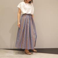 Lallia Muストライプスカート(blue)