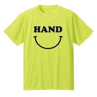 HAND スマイル ドライメッシュTシャツ 蛍光イエロー