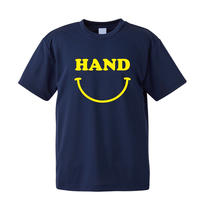 HAND スマイル ドライメッシュTシャツ ネイビー