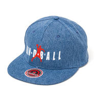 Denim Flat Visor Cap BLUE