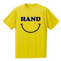 HAND スマイル ドライメッシュTシャツ イエロー