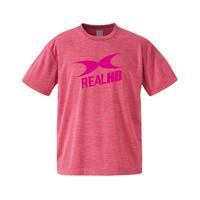 ビッグロゴ ドライ杢Tシャツ ピンク