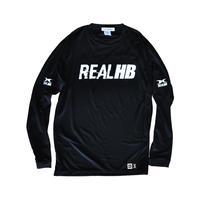 シンプルロゴ ドライロングTシャツ ブラック