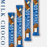 【ニーダーエッガー】マジパンスティック ミルクチョコレート 4本セット