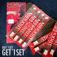 \ご購入いただくと、無料でもう1セット(4本)プレゼント!/【ニーダーエッガー】マジパンスティック ビターチョコレート  4本セット