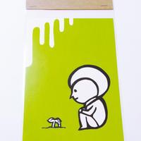 ポストカード:黄緑