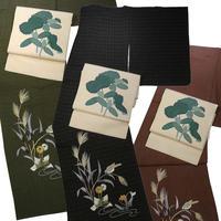 【京・木棉 乙】木綿着物 刺繍 花と鳥