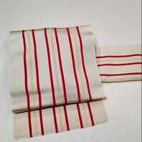 ひとえ帯 博多織 縞柄ob25