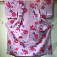 浴衣   薄紫色に菊とダリア柄   yu19