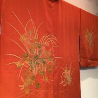 羽織 正絹 垣根・菊などの柄 h42