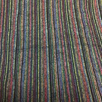 単衣   正絹   茶系の縦縞   z102