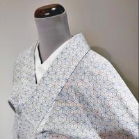 化繊 単衣・薄物 麻の葉小紋z58