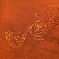 羽織 正絹 橙地に壺柄 h56