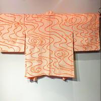 羽織 薄ピンク地・朱の流水 総絞り h16