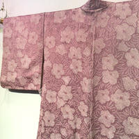 羽織 正絹 薄藤色地に花柄の絞り h49