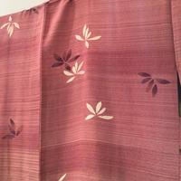 正絹 羽織 ピンク紫地に白と紫の洋花柄 h31