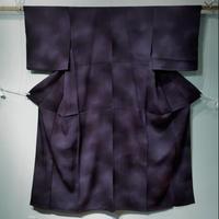 正絹 単衣 濃紫・ぼかし染 z80