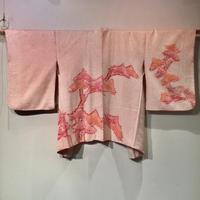 正絹 羽織 絞り ピンク地に松柄 h36