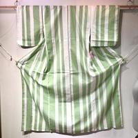 浴衣   黄緑×白縦縞柄   yu23