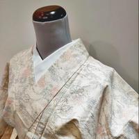 正絹 単衣 紬・絣模様 z71