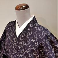 木綿 単衣 濃紺 絣柄 z11