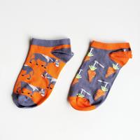スニーカーソックス「馬とにんじん」/  sneaker socks 'carrot&horse'