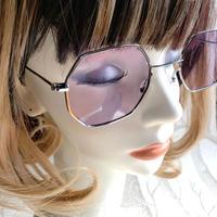 ヴィンテージ風サングラス/ Metal hexagon sunglass