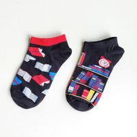スニーカーソックス「BOOKS!」/ sneaker socks 'BOOKS!'