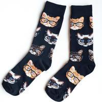 メガネコソックス/ Dr. cat socks