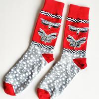 蝶の紋ソックス/ unisex socks 'butterfly crest'