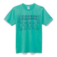 【にゃんとこ】たいへいとたいさんTシャツ / エメラルドグリーン