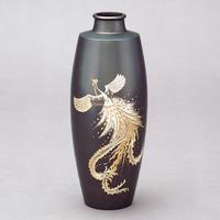 025-07 花器 細口駒型(鳳凰彫金)