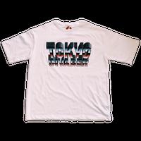 """ TOKYO INVADER "" Pocket T-shirt  /  WHITE  ( original tag print )"