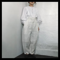 linen stripe pants / refuge