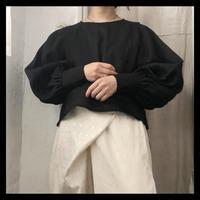linen puffsleeve blouse / refuge