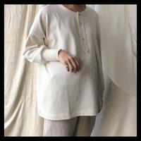henly neck shirt     /     gasa*grue